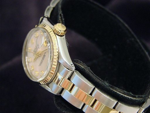 Rolex Two-Tone Datejust 6917 Pink MOP Diamond-4