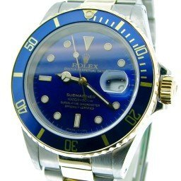 Mens Rolex Two-Tone 18K/SS Submariner Blue  16613 (SKU U202539BCMT)
