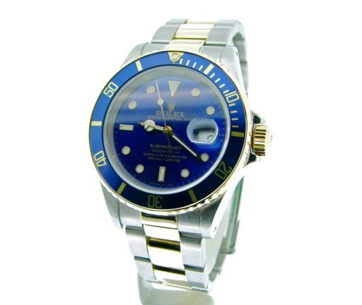 Rolex Two-Tone Submariner 16613 Blue -6
