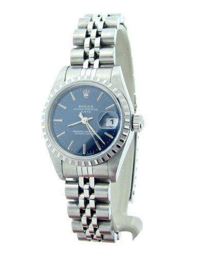 Rolex Stainless Steel Date 69240 Blue -5