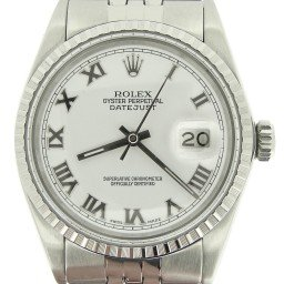 Mens Rolex Stainless Steel Datejust White Roman 16030