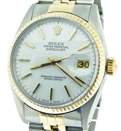 Rolex Two-Tone Datejust 16013 White -1