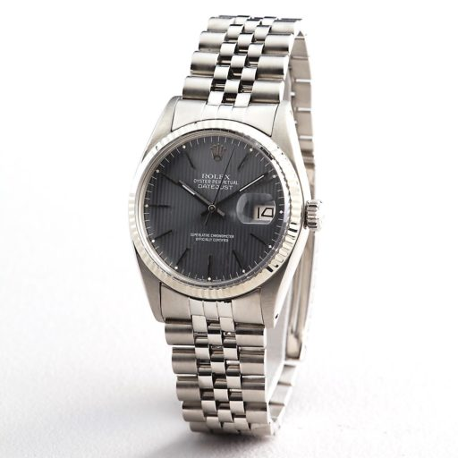 Rolex Stainless Steel Datejust 16014 Gray, Slate -4