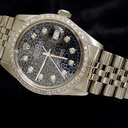 Mens Rolex Stainless Steel Datejust Blue Diamond (SKU 8763796MT)
