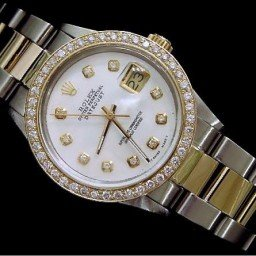 Mens Rolex Two-Tone 18K/SS Datejust White Diamond 16013 (SKU 9184731MT)