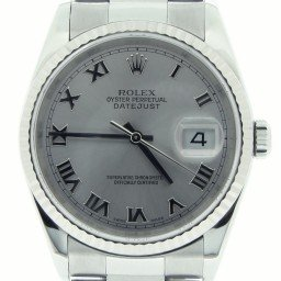 Mens Rolex Stainless Steel Datejust Silver Roman 16234 (SKU Y973545MT)