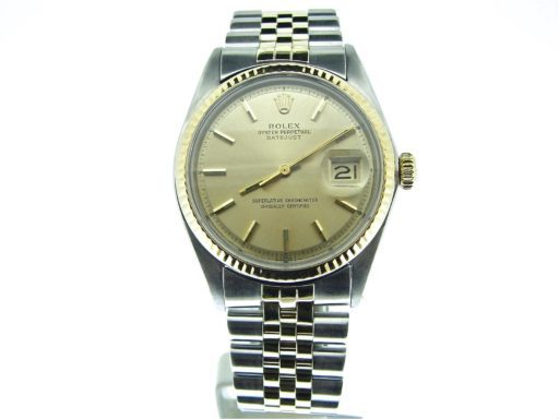 Rolex Two-Tone Datejust 1601 Champagne -6