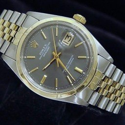 Mens Rolex Two-Tone 14K/SS Datejust Gray, Slate  1601 (SKU 3283425BCMT)