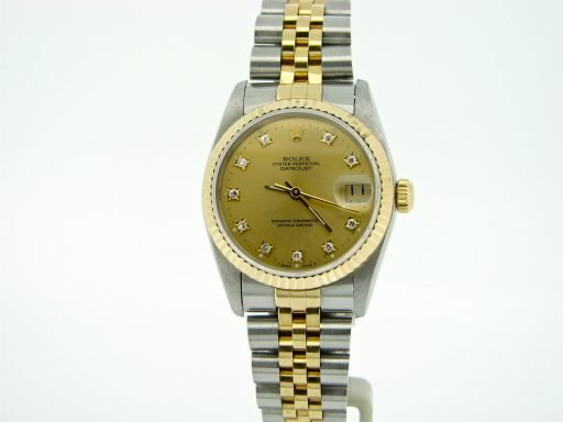 Rolex Two-Tone Datejust 68273 Champagne Diamond-6