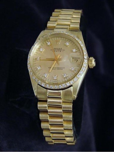 Rolex Yellow Gold Date President Diamond 6827 Champagne-4