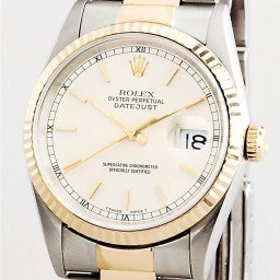 Mens Rolex Two-Tone 18K/SS Datejust White  16233