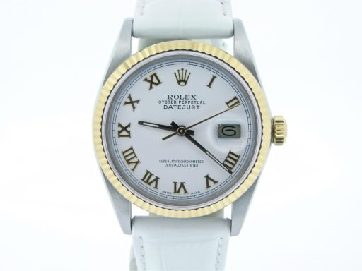Rolex Two-Tone Datejust 16013 White Roman-8