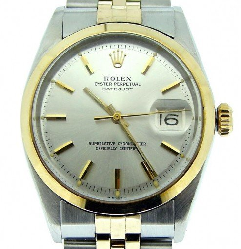 Rolex Two-Tone Datejust 1601 Silver -1