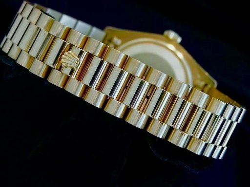 Rolex 18K Yellow Gold Day-Date President 18038 Champagne Diamond-2