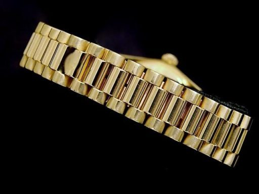 Rolex Yellow Gold Date President Diamond 6827 Champagne-2