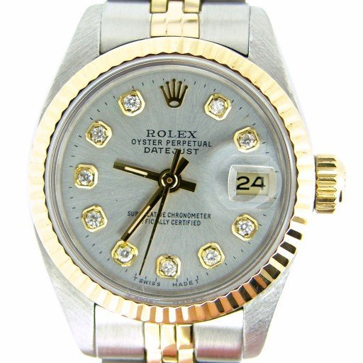 Rolex Two-Tone Datejust 6917 Silver Diamond-1