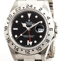 Mens Rolex Stainless Steel Explorer II Black  16570 (SKU 1657090BLACKMT)