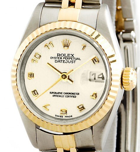 Rolex Two-Tone Datejust 69173 Ivory Arabic-1