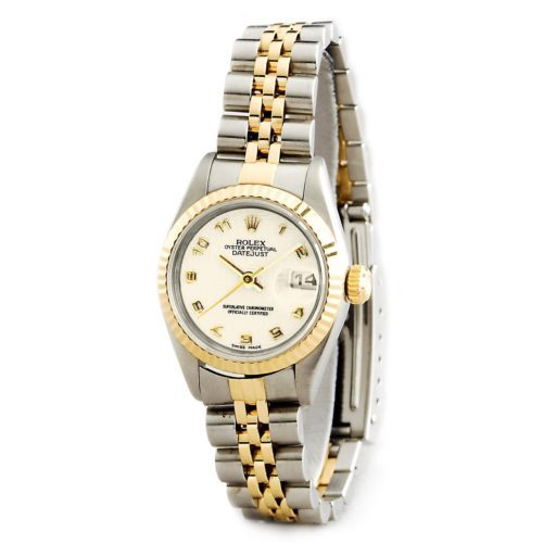 Rolex Two-Tone Datejust 69173 Ivory Arabic-5