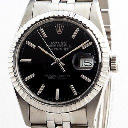 Mens Rolex Stainless Steel Datejust Black  16030 (SKU 16030111MT)