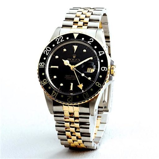 Rolex Two-Tone GMT-Master 16753 Black Nipple-4