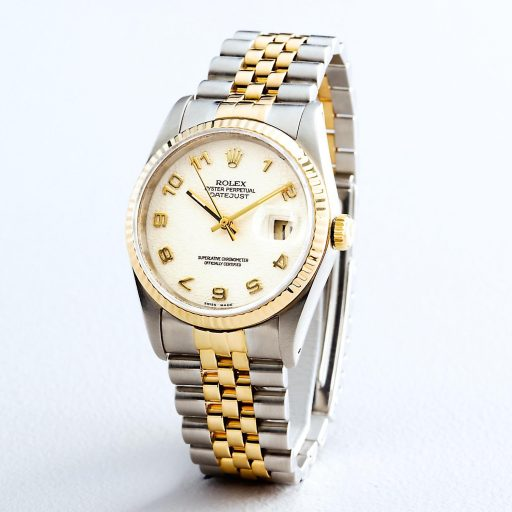 Rolex Two-Tone Datejust 16233 White Arabic-5