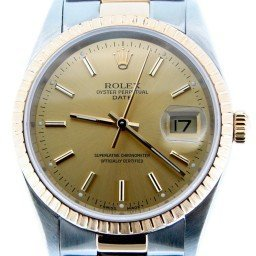Pre Owned Mens Rolex Two-Tone Date with a Gold/Champagne Dial 15223 (SKU U717651M)