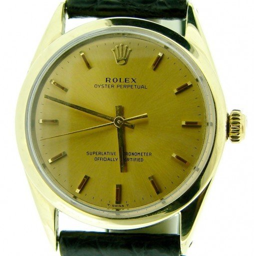 Rolex Gold Shell Oyster Perpetual 1024 Champagne-1