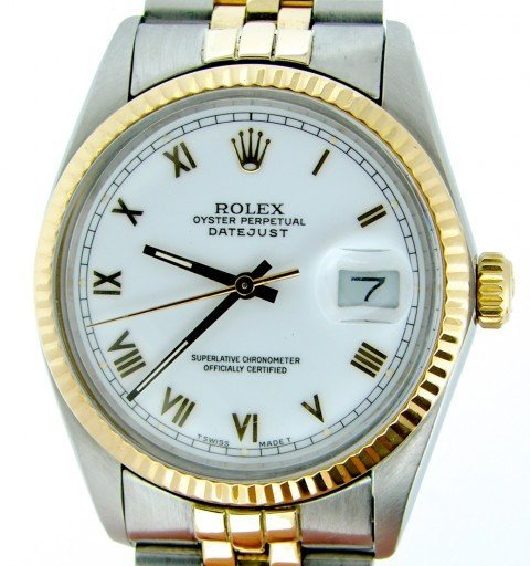 Rolex Two-Tone Datejust 16013 White Roman-1