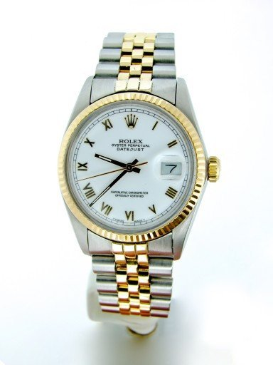 Rolex Two-Tone Datejust 16013 White Roman-7
