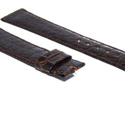 GENUINE ROLEX BROWN LEATHER CROCODILE STRAP BAND (SKU BCRO53)