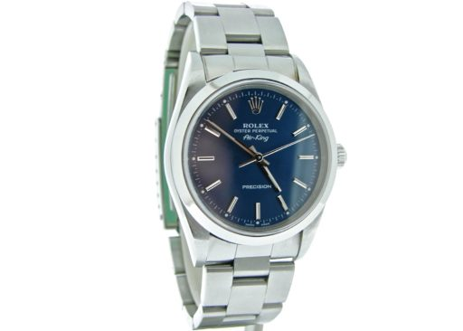 Rolex Stainless Steel Air-King 14000 Blue-6