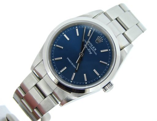 Rolex Stainless Steel Air-King 14000 Blue-5