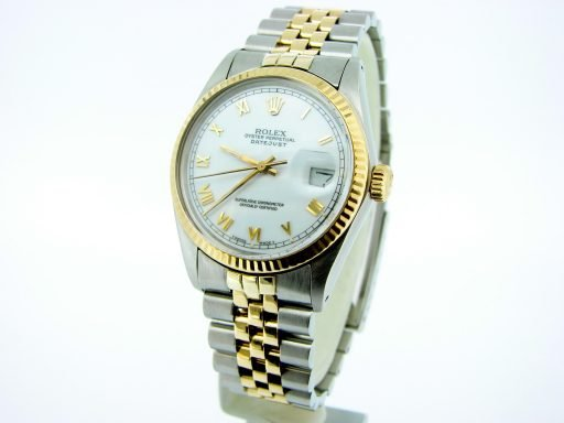 Rolex Two-Tone Datejust 16013 White Roman-6