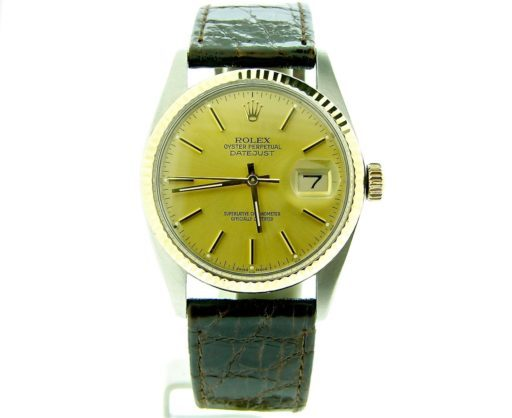 Rolex Two-Tone Datejust 16013 Champagne -9