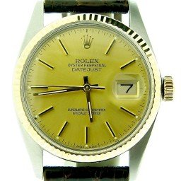 Mens Rolex Two-Tone 14K/SS Datejust Champagne  16013