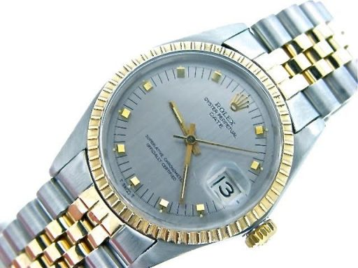 Rolex Two-Tone Date 1505 Gray, Slate -5