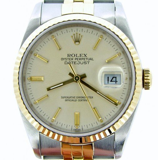 Rolex Two-Tone Datejust 16233 Silver -1