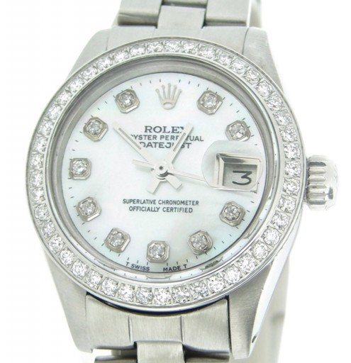 Rolex Stainless Steel Datejust 6917 White MOP Diamond-1