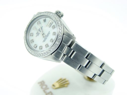 Rolex Stainless Steel Datejust 6917 White MOP Diamond-2