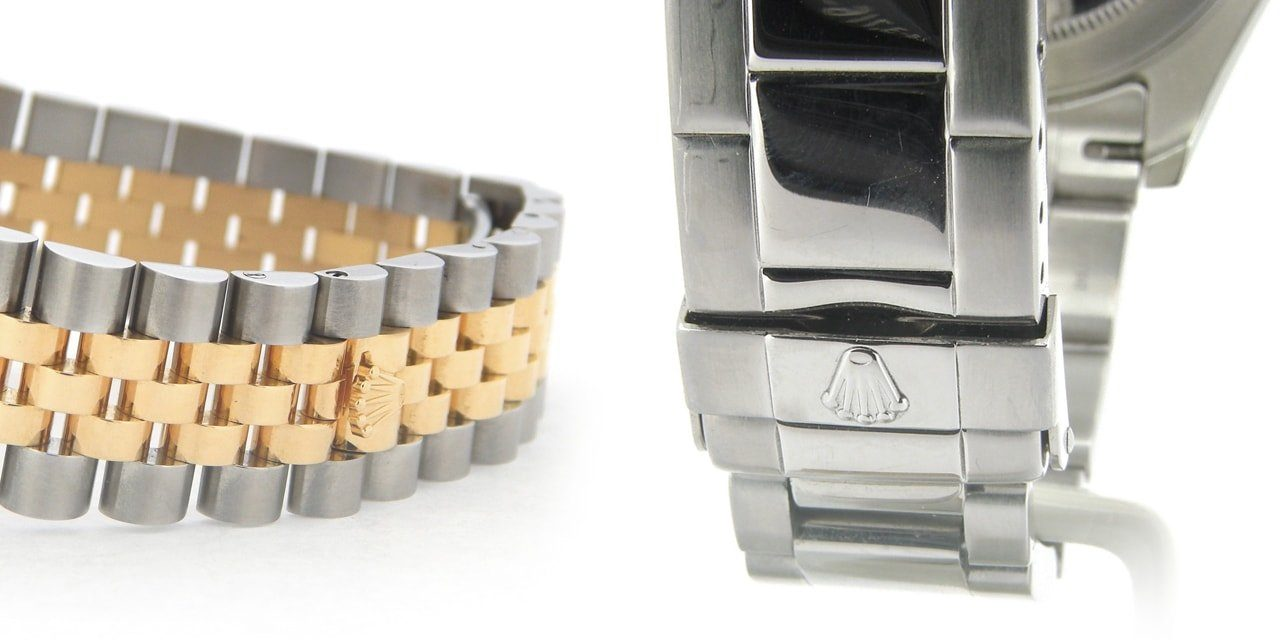 Post image for In case you're wondering, Rolex uses clasps not buckles…