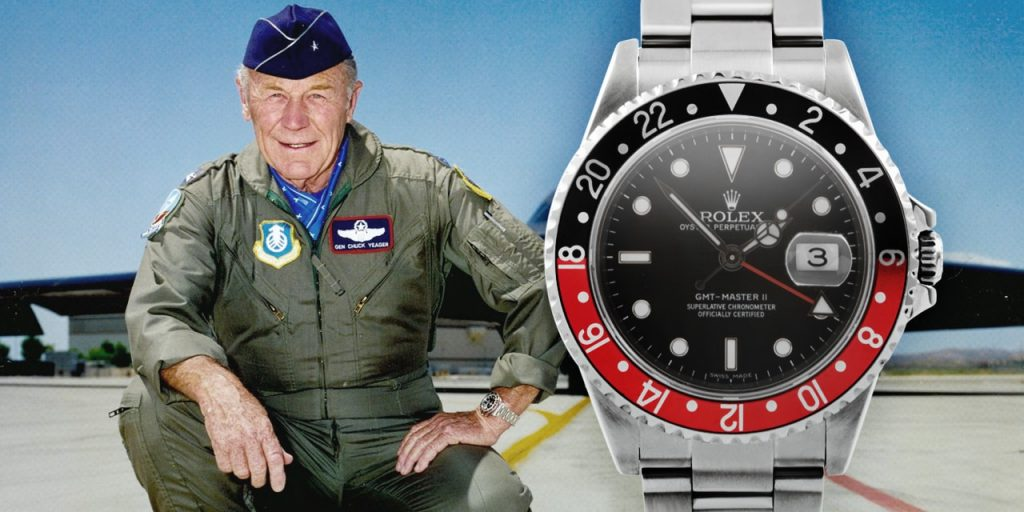 Yeager does it again at 89 years old, and uh yes, wearing a Rolex