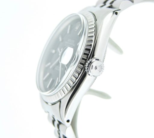 Rolex Stainless Steel Datejust 1603 Black -3