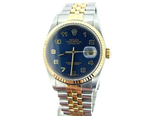 Rolex Two-Tone Datejust 16233 Blue Arabic-8