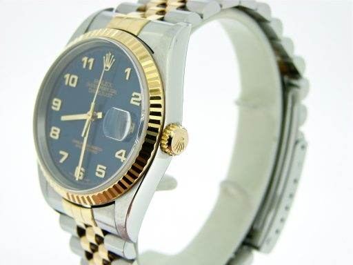 Rolex Two-Tone Datejust 16233 Blue Arabic-5