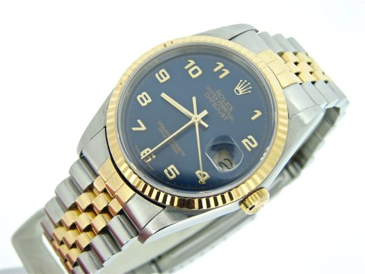 Rolex Two-Tone Datejust 16233 Blue Arabic-6