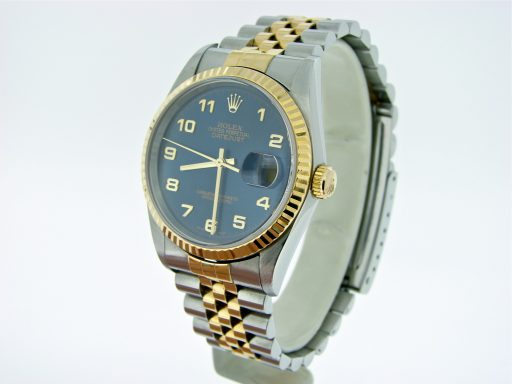Rolex Two-Tone Datejust 16233 Blue Arabic-7
