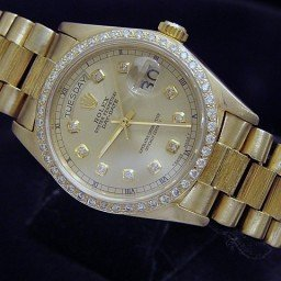 Mens Rolex 18K Gold Day-Date President Champagne Diamond 18038 (SKU 6044181MT)