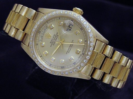 Rolex 18K Yellow Gold Day-Date President 18038 Champagne Diamond-7