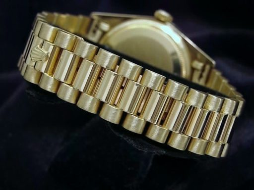 Rolex 18K Yellow Gold Day-Date President 18038 Black Diamond-2